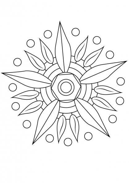 Coloriage Mandala fleur 12