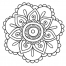 Coloriage Mandala fleur 2