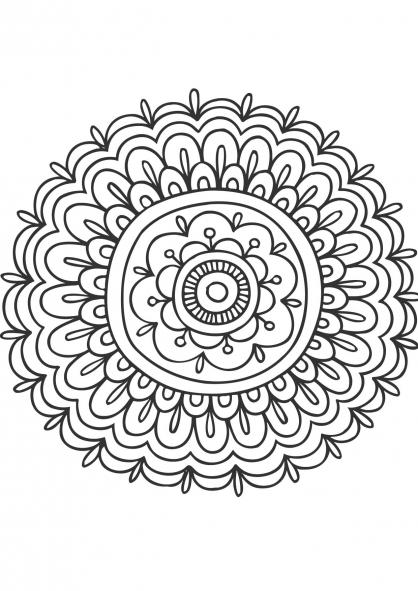 Coloriage mandala fleur 3 coloriage mandalas coloriage chiffres et formes - Coloriage fleur 3 ans ...