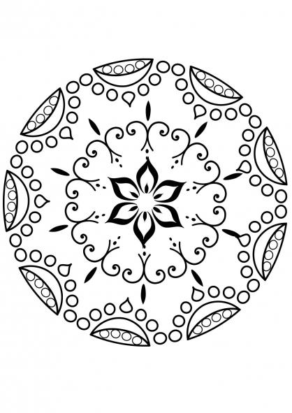 Coloriage mandala fleur 5 coloriage mandalas coloriage chiffres et formes - Coloriage fleur mandala ...