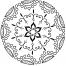 Coloriage Mandala fleur 5