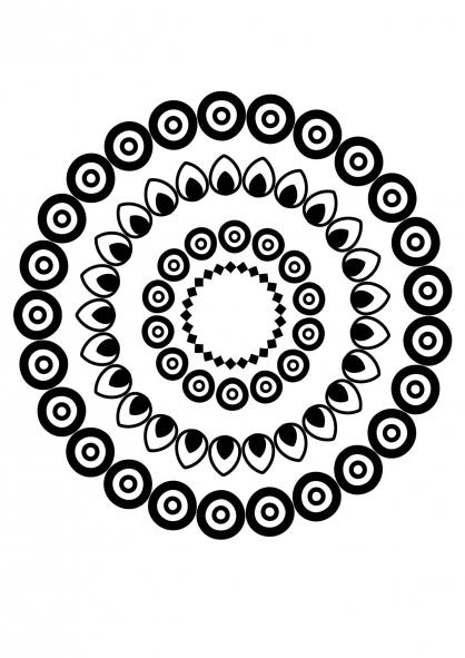 Coloriage Mandala fleur 8