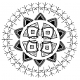 Coloriage Mandala Hybérique