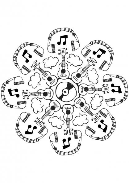 Coloriage mandala musique coloriage mandalas coloriage - Musique coloriage ...