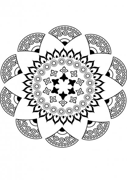 Coloriage Mandala nature 11
