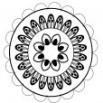 Coloriage Mandala nature 3