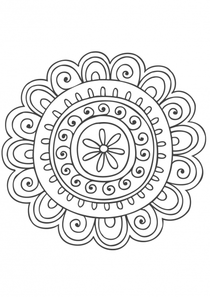 Coloriage Mandala nature 8