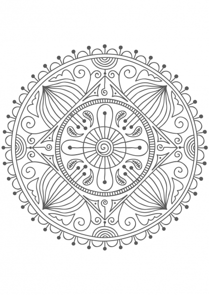 Coloriage Mandala nature