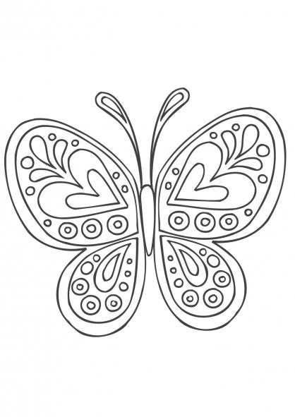 Coloriage mandala papillon coloriage mandalas - Coloriage mandala enfants ...