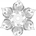 Coloriage Mandala poisson