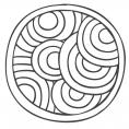 Coloriage Mandala zen