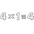 Coloriage Multiplication 13