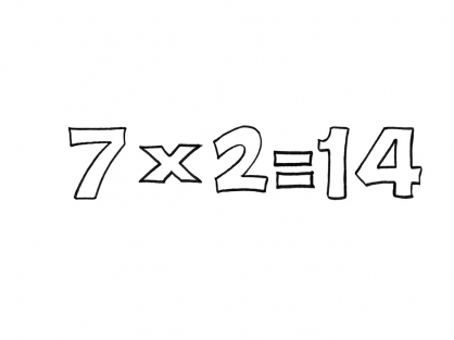 Coloriage Multiplication 6