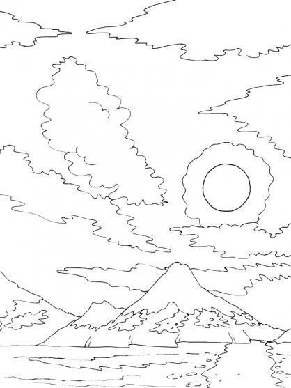 Coloriage Ciel 12