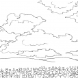 Coloriage Ciel 14