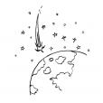 Coloriage Comète 10