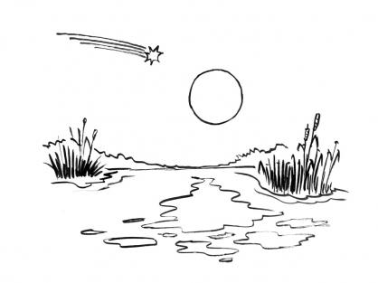 Coloriage Comète 14