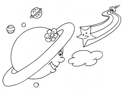 Coloriage Comète 20