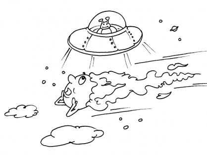 Coloriage Comète 27