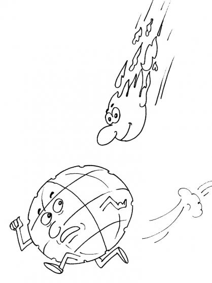 Coloriage Comète 29