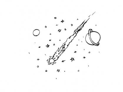 Coloriage Comète 3