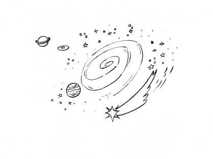 Coloriage Comète 4
