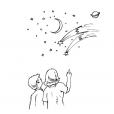 Coloriage Comète 5