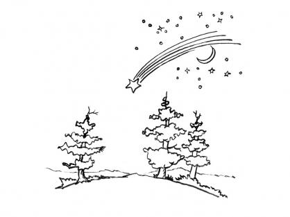 Coloriage Comète 6