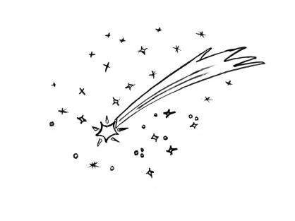 Coloriage Comète 7