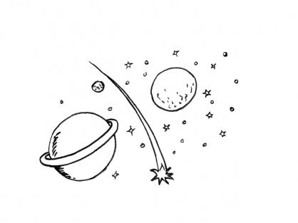 Coloriage Comète 8