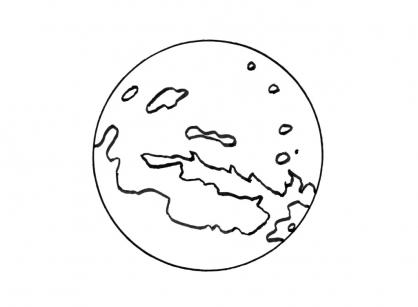 Coloriage Planète 2