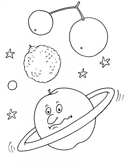 Coloriage Planète 24
