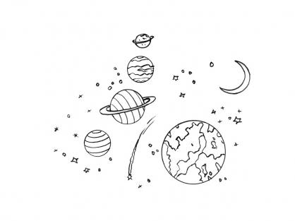 Рисунок космоса и планет