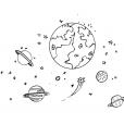 Coloriage Planète 8