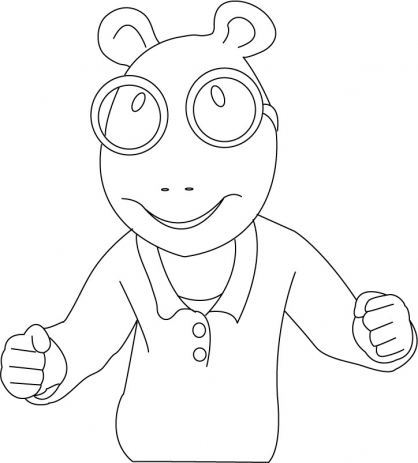 Coloriage Arthur 14