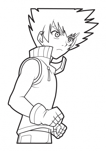 Coloriage Bakugan 18