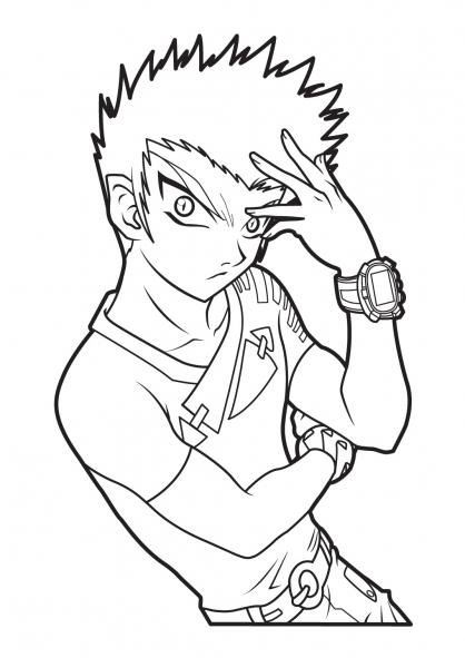 Coloriage Bakugan 2