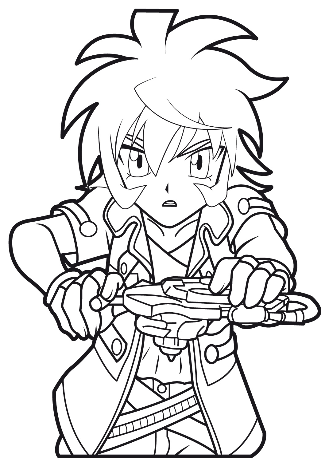 beyblade coloring pages gingka - photo#27