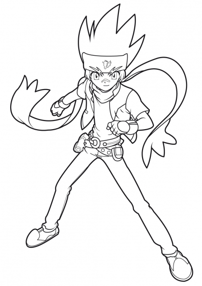 beyblade coloring pages gingka - photo#11