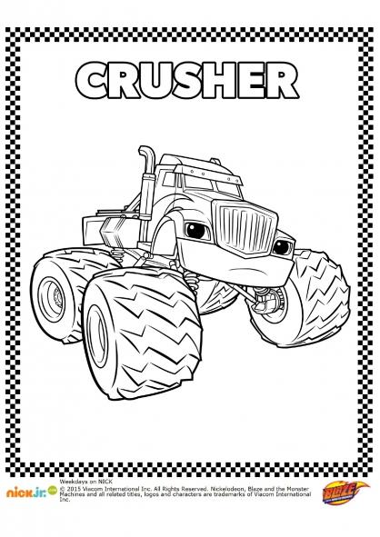 Coloriage Crusher, l'ennemi juré !