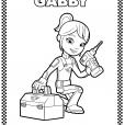 Coloriage Gabby la mécanicienne