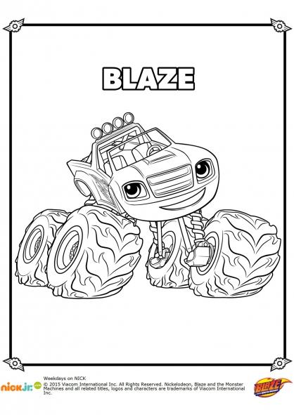 Coloriage L'incroyable Blaze !