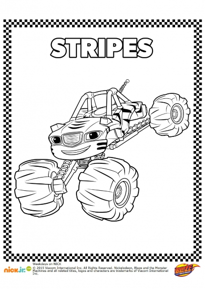 Coloriage Stripes