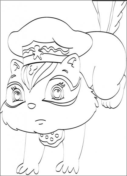 Coloriage Charlotte aux Fraises 14