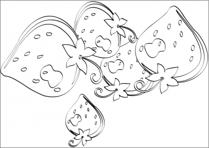 Coloriage Charlotte aux Fraises 43