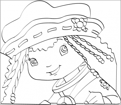 Coloriage charlotte aux fraises 85 coloriage charlotte - Charlotte aux fraises dessin ...