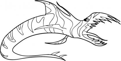Coloriage Chasseur de dragons 28