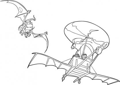Coloriage Chasseur de dragons 29