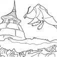 Coloriage Chasseur de dragons 7