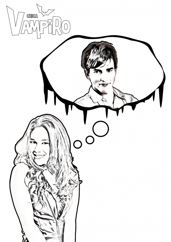 Coloriage chica vampiro a imprimer - Coloriage chica vampiro ...